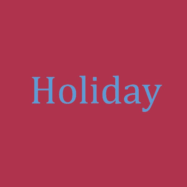 OMC 2020 Spring Festival holiday schedule